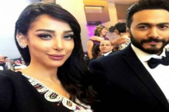 بسبب جلسة تصوير.. تامر حسني يسخر من بسمة بوسيل -صورة
