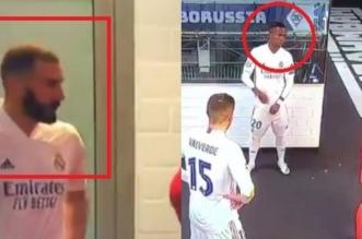 بالفيديو.. فضيحة بنزيما مع زميله في مباراة مونشنغلادباخ
