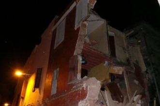 الرياح القوية تتسبب في انهيار منزلين بالمدينة القديمة للبيضاء