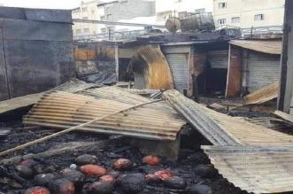 """عامل الحسيمة يأمر بتشكيل لجنة لتقييم أضرار حريق """"سوق الثلاثاء"""""""