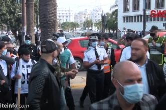 """مستخدمو القاعات الرياضية يخرجون للشارع في """"كازا"""" للمطالبة بالعمل -فيديو"""