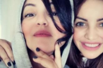سناء عكرود تعبر عن متمنياتها لشقيقتها شهرزاد-صورة