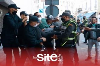 """أساتذة """"الكونطرا"""" يستنفرون سلطات البيضاء..شاهد ماذا حدث بعد تدخل الأمن-فيديو"""